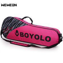 Women Badminton Bag for Racket Lightweight Tennis Bag Racquet Storage for Badminton 3 Colors Men's Single Shoulder Badminton цена