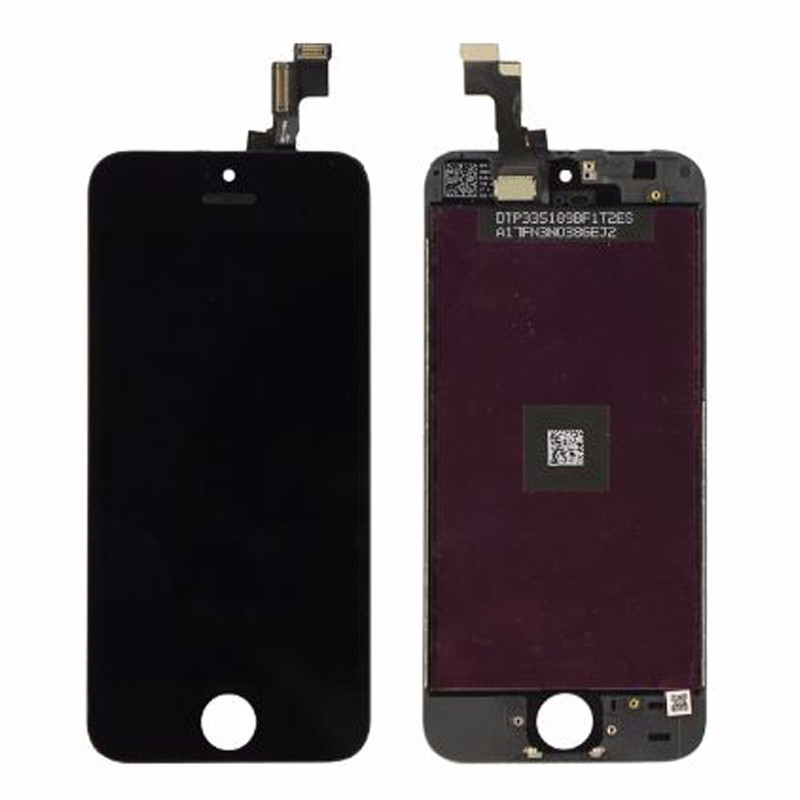 <font><b>Original</b></font> For <font><b>iPhone</b></font> <font><b>5S</b></font> 5C 5 <font><b>LCD</b></font> Display With Touch Screen Digitizer Assembly Black&White Free Shipping image