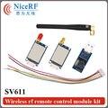2 unids/lote 470 MHz Interfaz TTL 100 mW GFSK Si4432 Módulo Inalámbrico SV611 con 2 unids Antena De Goma y 1 unid Puente USB boad