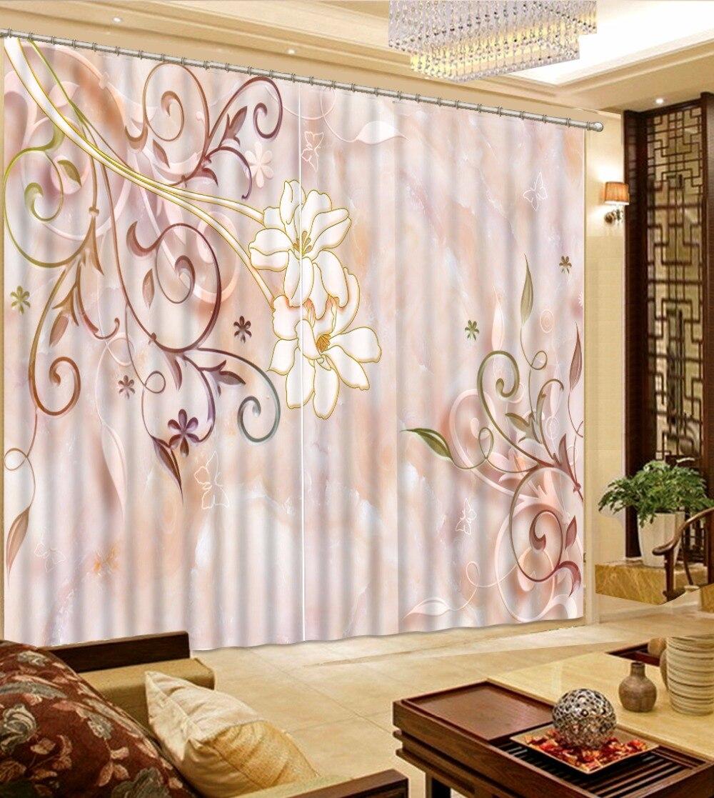 US $60.0 60% di SCONTO|Tenda moderna Tende Per Camera Da Letto Tende  Oscuranti Per La ragazza del fiore fresco Cucina camera soggiorno Rosa  Tende-in ...