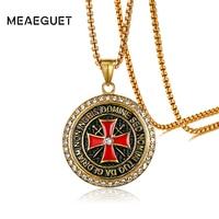 Meaeguet Esclusivo Retro Cavalieri Templari Iron Cross Pendente Della Collana Per Gli Uomini Gioielli In Acciaio Inox Biker Croce Maltese