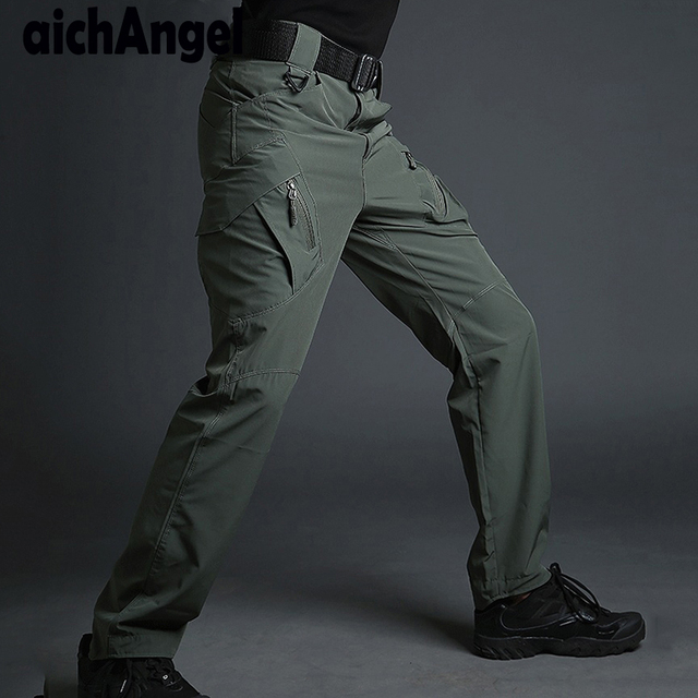 New Summer IX9 Lightweight Military Cargo Pants Men Casual Quick Dry Breathable Tactical Combat Casual Trousers