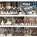 55*38cm Christmas Wall Stickers Christmas Tree Snowman Antelope Santa Claus Shop Window Glass Background Stickers Decor P10