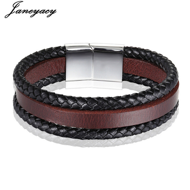 2018 NEW Fashion Stainless Steel Men's Bracelet Women's High Quality Retro Leather Bracelet Brave knight Bracelet Bracelet Men's
