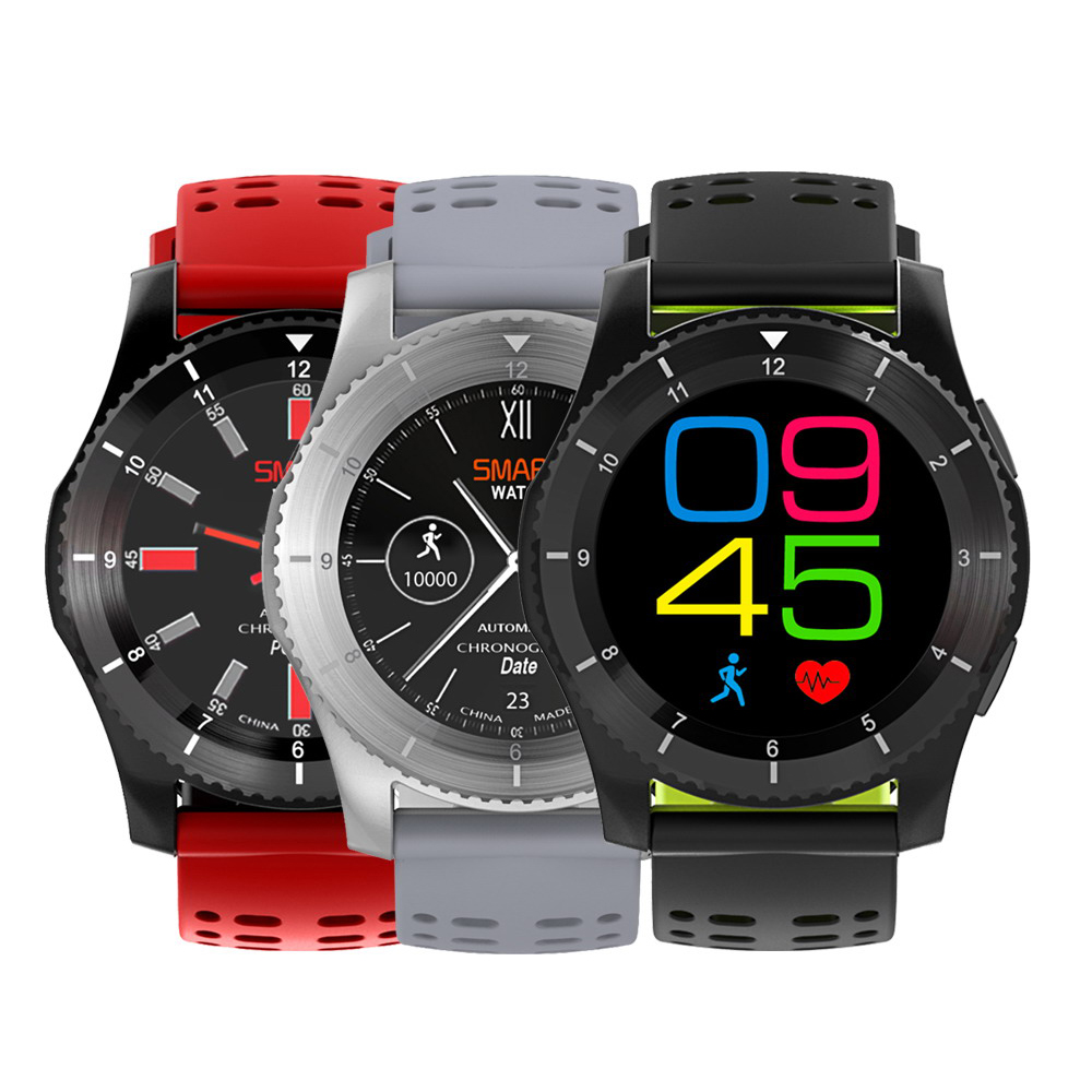 GS8 Bluetooth Smart <font><b>Watch</b></font> <font><b>Sport</b></font> Wristwatch 1.3 Inch GPS Heart Rate Monitor <font><b>Pedometer</b></font> <font><b>Support</b></font> <font><b>SIM</b></font> Card for IOS Android Phone