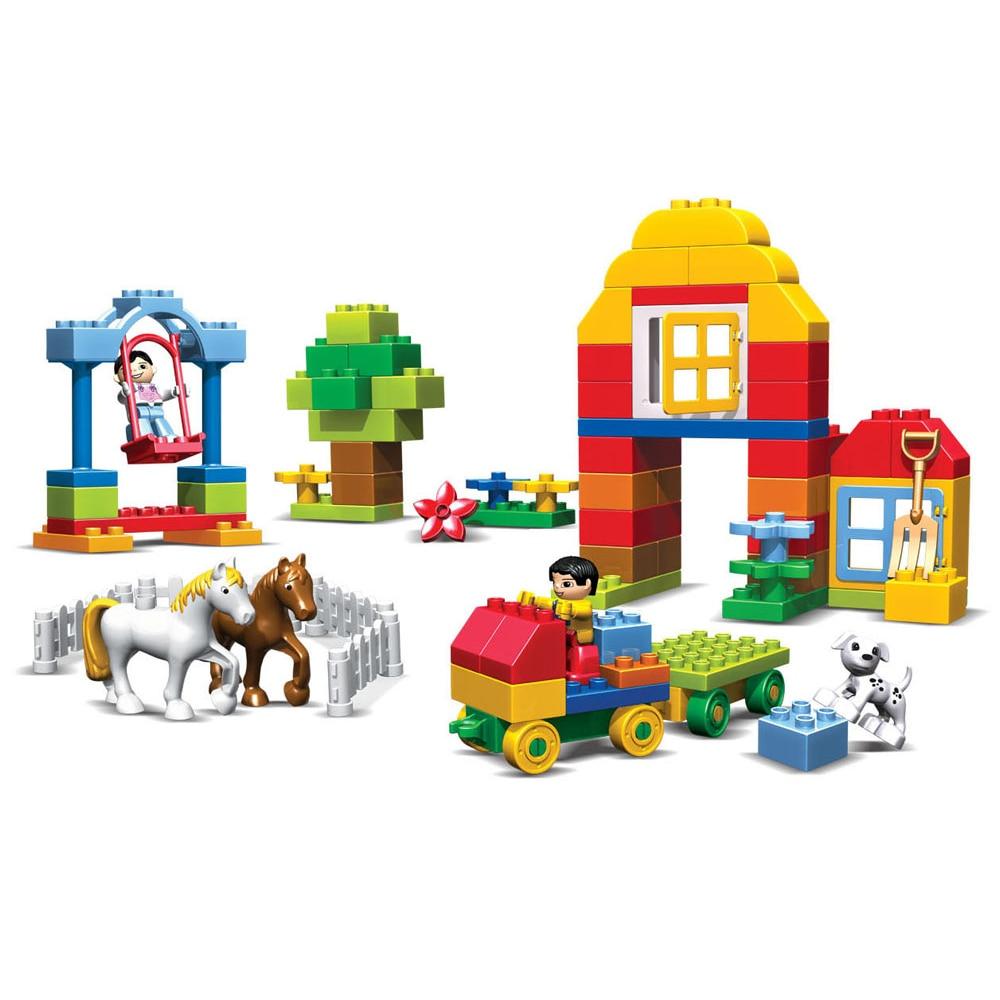90pcs Happy Farm Haiwan Blok Bangunan Sets Partikel besar Animal - Mainan pembinaan - Foto 2