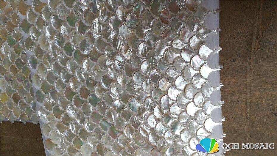 Whitelip shell perlmutt mosaik fliesen für küche backsplash und bad natürlichen muschel weiß farbe 5 platz feet/lot - 5