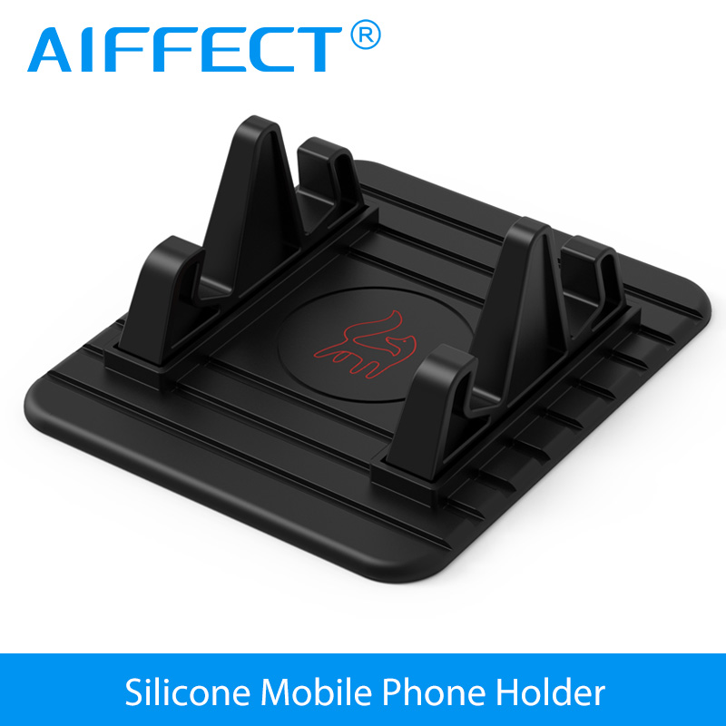 AIFFECT Soft Silicone Car Holder Mobile Phone Holder Stand GPS Anti Slip Mat Desktop Stand Bracket For IPhone 5s 6 7 Samsung