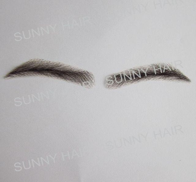 hand made human hair man false eyebrow 019A black color hand knot fake eyebrow 2