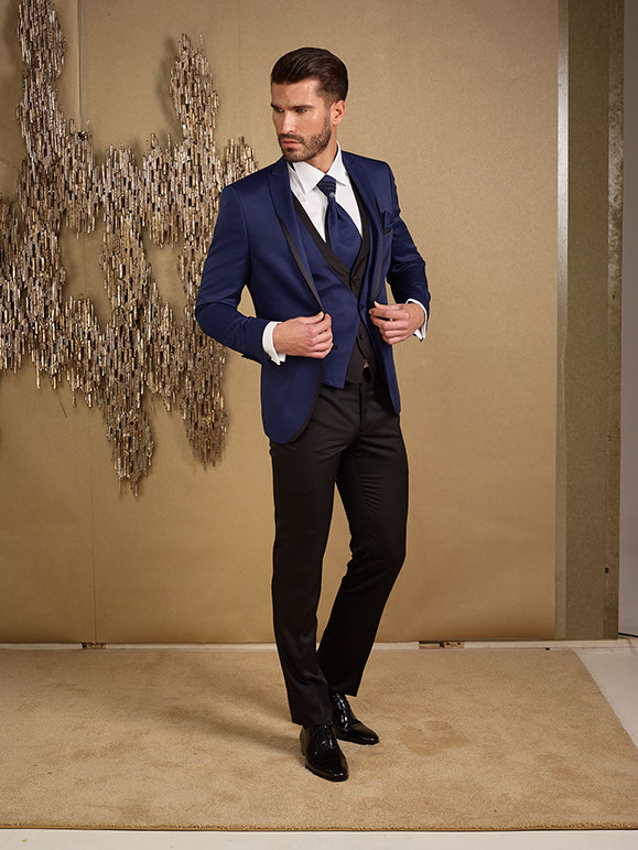 2017 Latest Coat Pant Designs Brown Navy Blue Men Suit Slim Fit 3 ...