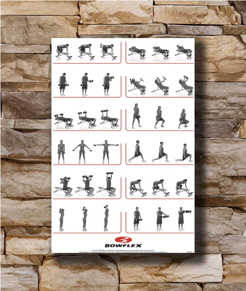 US $7 9 |Dumbbell Workout Home Decoration Poster Wall Canvas Art 14x21  16x24 24x36inch Print G 2167-in Painting & Calligraphy from Home & Garden  on