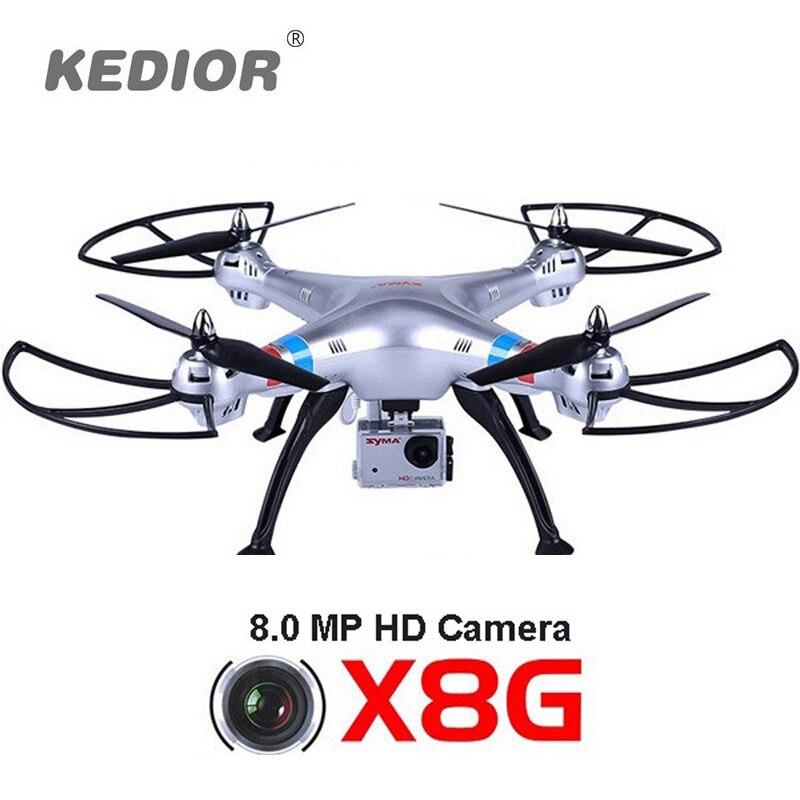 X8g syma rc drone con cámara de 8mp hd gran angular 2.4g 4CH 6 Axis Dron UAV Qua