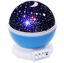 Projective Luminous Toy For Children Starry Sky LED Soft Light Novelty Bedroom Lighting Battery/USB Night Light Toy Kids Gifts