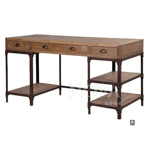 Americana hacer el viejo forjado de hierro banco de madera ...