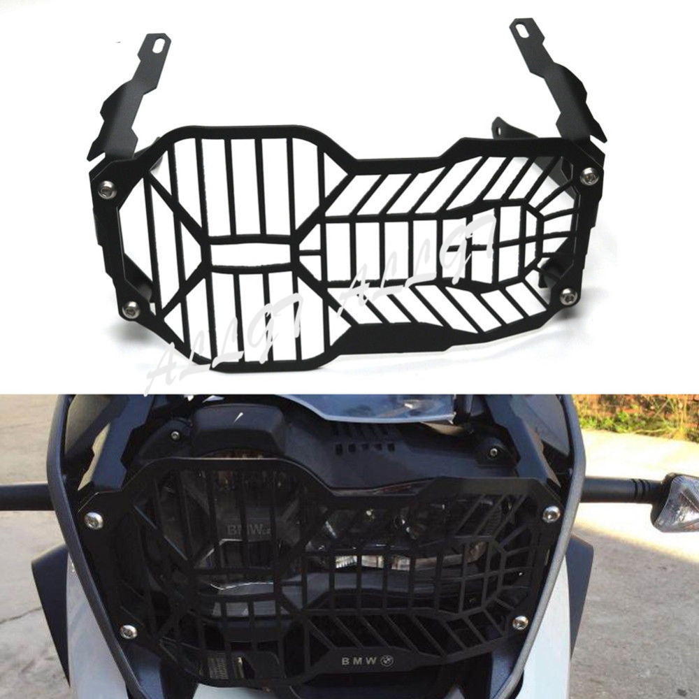 ALLGT Headlight Headlamp Protector Guard Fit For BMW 2013 2014 R1200GS ADV Black