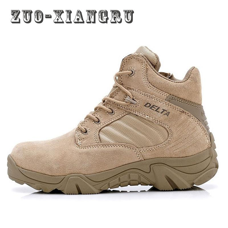 High-quality Autumn Winter Military Tactical Boots Round Toe Men Desert Combat Boots Outdoor Mens Leather Army Ankle Boots