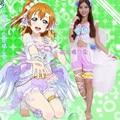 hot love live Kousaka Honoka cosplay costume Lovely cos White Day clothing dress ACG554