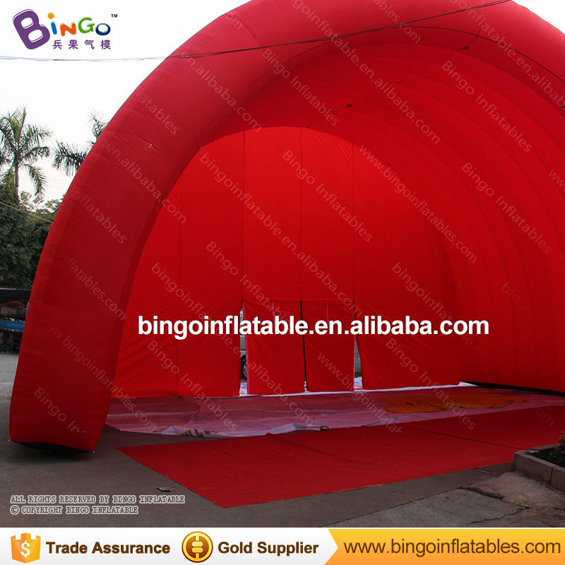Free Shipping 11X6.4X7 Meters Red Inflatable Stage Cover Tent nylon material inflatable roof canopy for concert toy tents esspero canopy