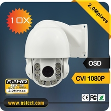 Hot Sale 2MP Mini IR CVI PTZ Camera with HD-CVI 1080p and CVBS 960H output 10X Zoom CVI High Speed Dome Camera with OSD