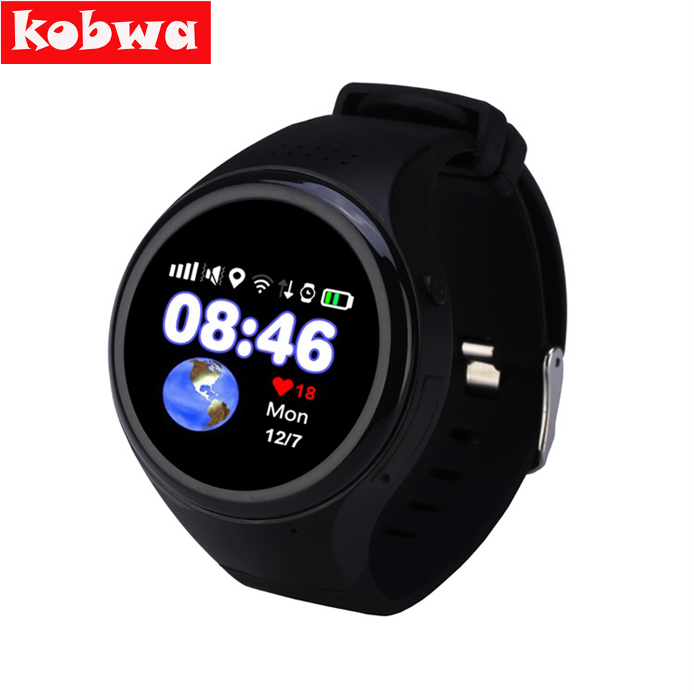 GPS smart watch baby watch T88 Bluetooth Kids Smartwatch Phone Smart Round Screen MTK2503 Smart Wristwatch SOS WiFi SIM watch smart baby watch каркам q60 голубые