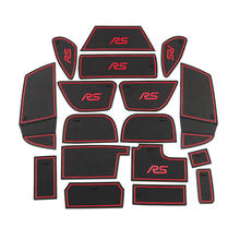 17Pcs/Set Car Gate Slot Mats Anti Slip Door Groove Mat for For Ford Focus RS ST 2015 - 2017 Interior Accessories(China)