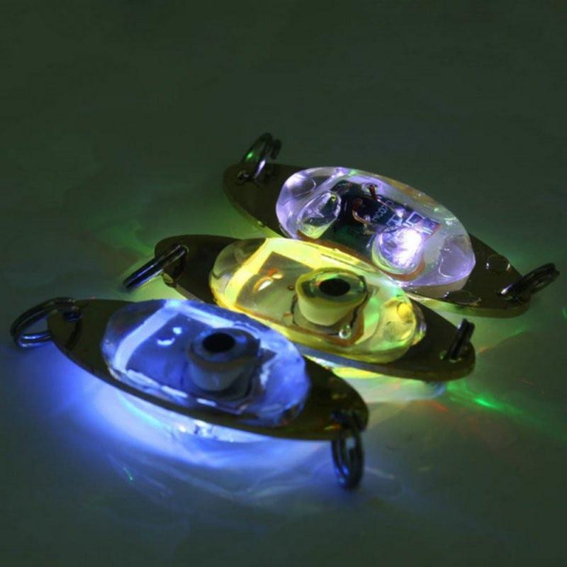 1 Pc Angeln Licht 6 Cm/2,4 Zoll-lampe Led Tiefer Tropfen Augen Form Angeln Tintenfisch Fisch Locken Licht