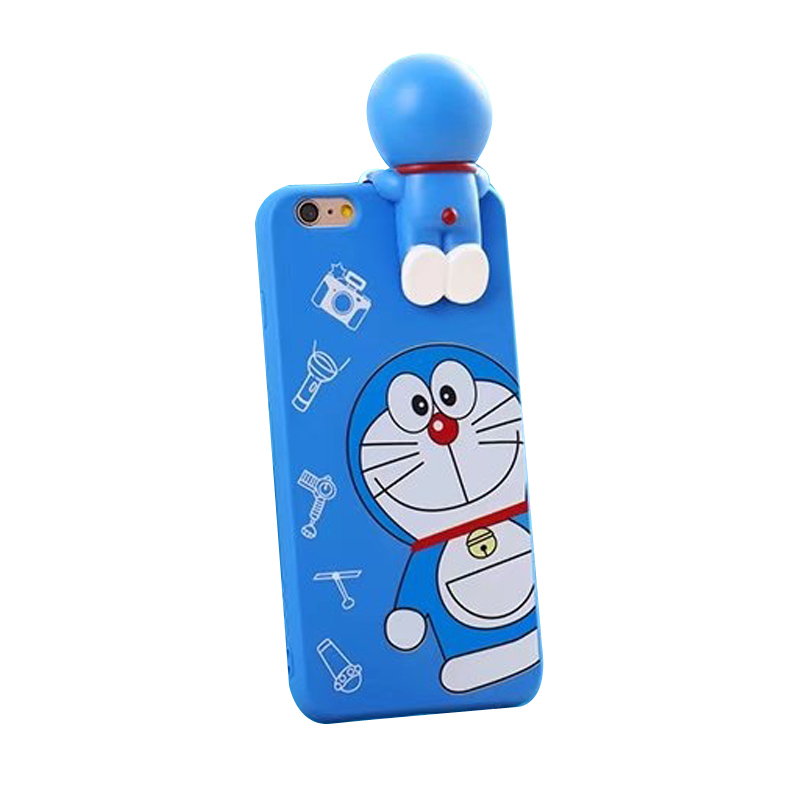 3D Doraemon Silicone Case for iPhone 7plus 6sPlus 6plus Soft Cartoon Movie For iPhone 7 6 6S Gel Back Case Funda Cover New