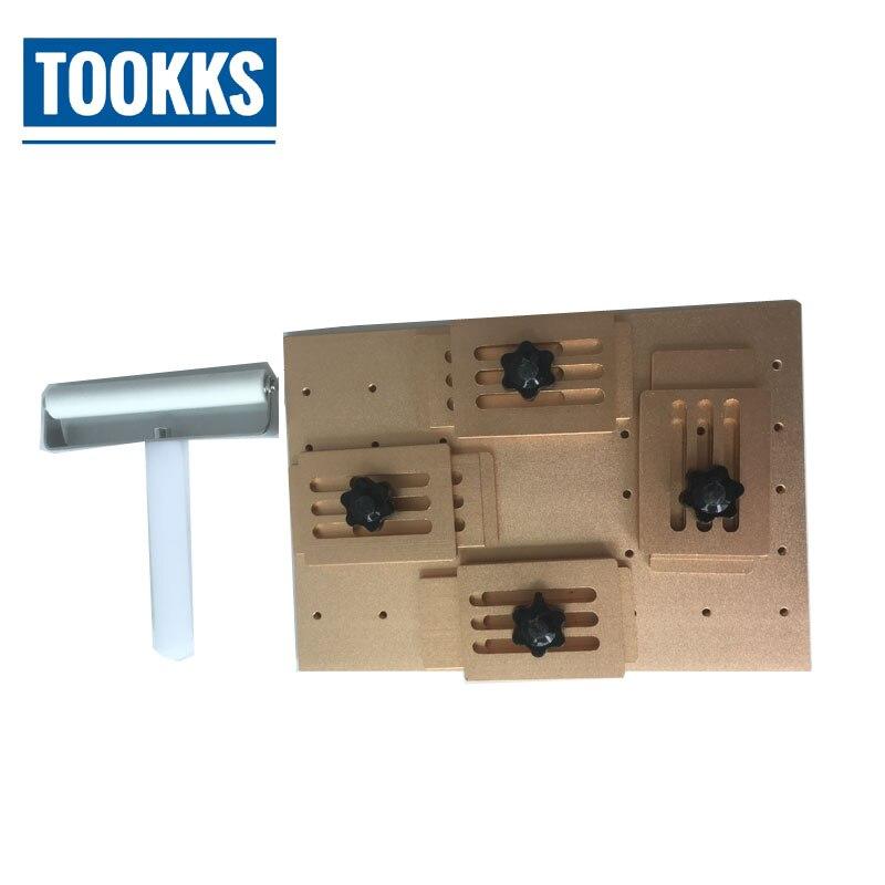 Universal Aluminium alloy <font><b>Phone</b></font> LCD OCA Laminating alignment Mold +7cm OCA Film <font><b>Roller</b></font> Anti-Static Silicone