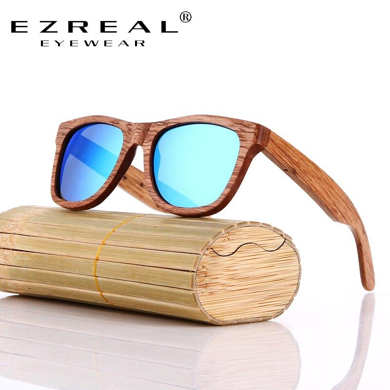 EZREAL Ahşap Güneş Gözlüğü Bambu marka güneş gözlükleri - Elbise aksesuarları - Fotoğraf 4