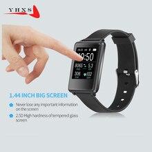 Новинка 2017 года смарт-браслет монитор сердечного ритма Bluetooth группа шагомер 1.44 'Экран Спорт браслет здоровья фитнес-трекер часы