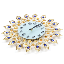 Diamond Peacock Shaped Wall Clock