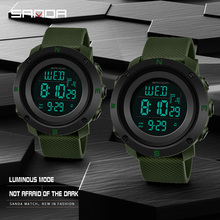 SANDA Men's Sport Digital Watch Men Women Watches Lover's Re