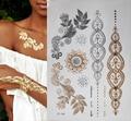 1 pcs New Metallic Ouro Prata Body Art Tatuagem Temporária Sexy Não-Tóxico Flash Tatuagens Etiqueta Para Mulheres tatuagem