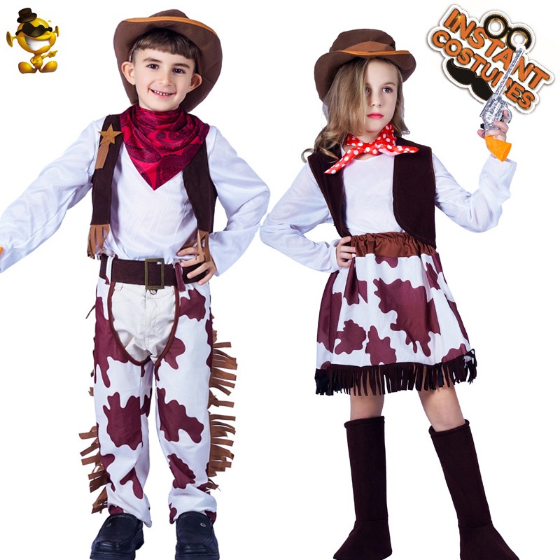 Kids Costume Cowboy Cowgirl Costume
