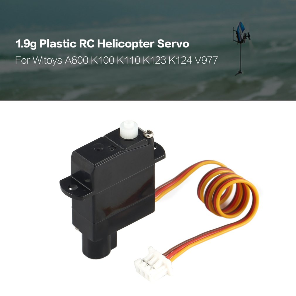 Hot 1.9g Plastic Servo for Wltoys XK A600 K100 K110 K123 K124 V977 V966 RC Helicopter Airplane Drone RC Model Toys Hobby Parts