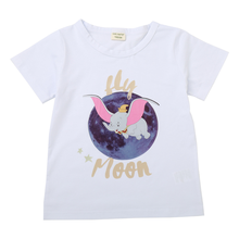Childrens short-sleeved cartoon summer child T-shirt male and female pure cotton short sleeve blouse boy girl new
