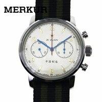 Мужские наручные часы с хронографом Seagull, большой пилот, перемотка с ручным заводом, 304 1963 42 мм, выставочный чехол, заднее платье