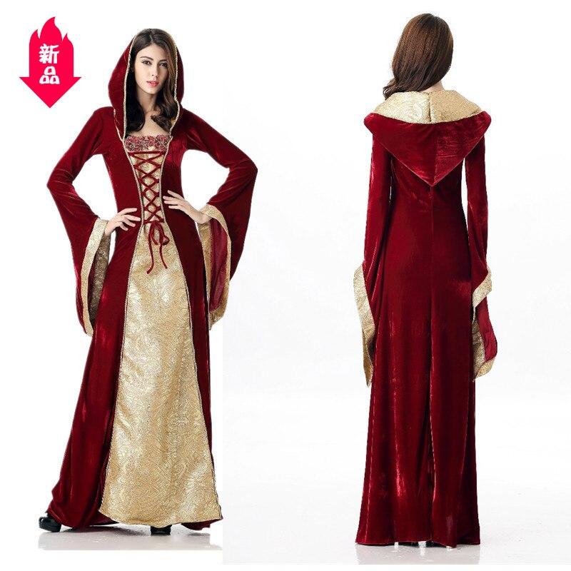 Robe de Cosplay de fête de reine de Style européen Vintage de mode des dames