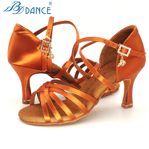 Image 2 - BDDANCE Latin Dance Shoes Authentic Lady Adult New High Heel Soft Bottom National Standard Practice Sandals Diamond bayonet 216
