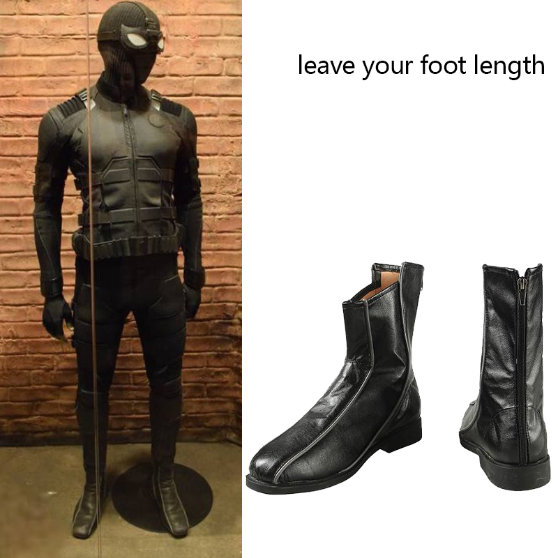 214d619357f US $40.79 20% OFF|Spider Man Far From Home Stealth Suit Costume Spiderman  Noir Cosplay Boots Superhero Halloween Carnival Men Shoes Custom Made-in ...