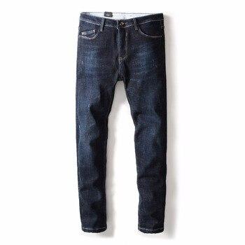 2017 Warm men straight Jeans High Quality Brand Autumn Winter Jeans men warm flocking warm soft men jeans long trousers pants