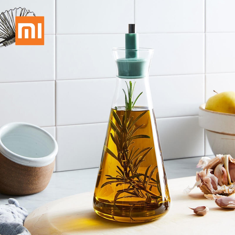 Xiaomi BergHoff Multifunction Glass Oilcan Oil Can Pot Bottles Oil Vinegar Sauce Cruet Container Kitchen Cooking Tools