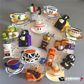 New Creative Food Shape Fridge Magnets Cute Toast Toaster Coffee Cup Style Decorative Refrigerator Souvenir Sticker earrings