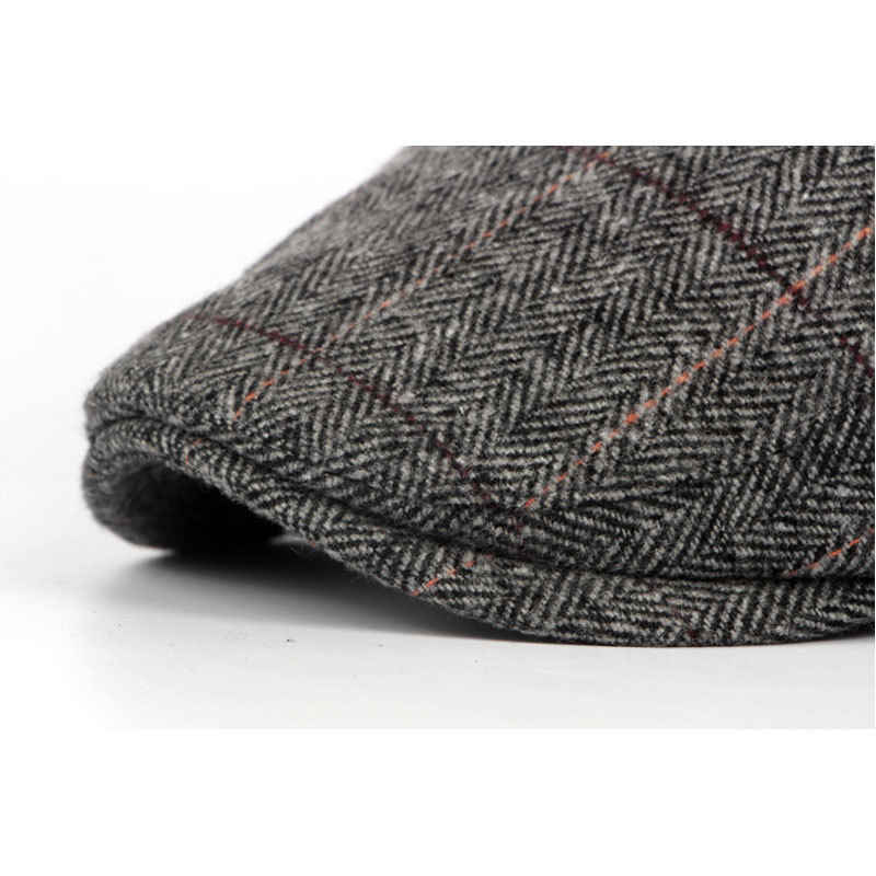 93de5d2936383 ... Autumn Spring Sun Hat For Classic Men Western Vintage Wool Cabbie  Newsboy Cap Casual Beret Golf ...