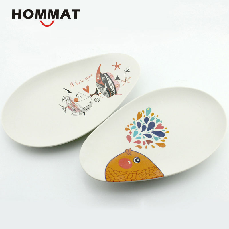Bamboo Fiber Fish Pattern White Food Plates Dishes Dinner Plate for Kitchen Irregular Animal Decor Kitchen Accessory Dinnerware-in Dishes u0026 Plates from Home ...  sc 1 st  AliExpress.com & Bamboo Fiber Fish Pattern White Food Plates Dishes Dinner Plate for ...