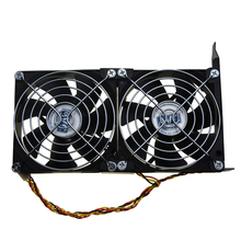 Universal GPU Double Fan Partner Ultra Quiet PCI Video Card Dual Cooler Desktop Chassis PCI-e Graphics Card Cooling 9CM