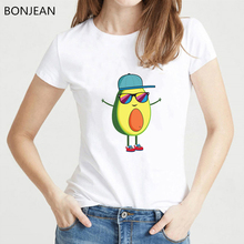 Harajuku Kawaii Avocado Vegan T shirt women Funny tshirt femme Tumblr T-shirt see you Graphic print tee streetwear