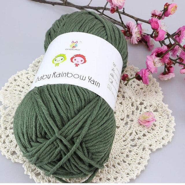 Großhandel 500g Kammgarn Baby Baumwolle Wolle Häkeln Dickes Garn Für