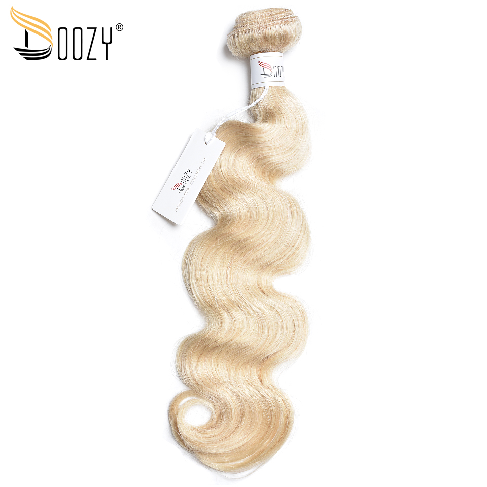 Doozy body wave color 613 blonde brazilian hair bundles free shipping 12″-24″ non remy human hair weaving