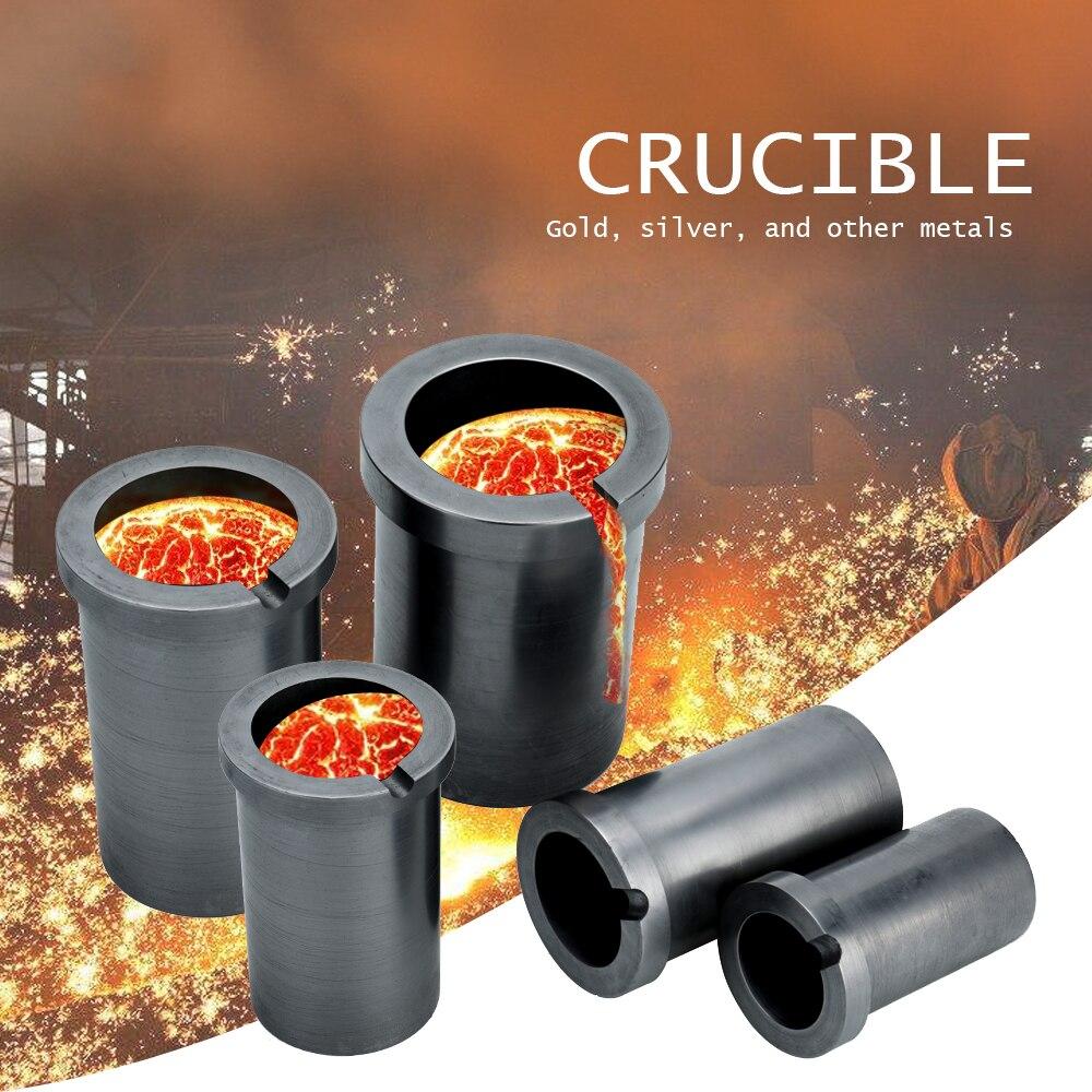 Hohe-reinheit Schmelzen Graphit Tiegel Gute wärme transfer leistung für Hohe-temperatur Gold und Silber Metall Schmelzen Werkzeuge